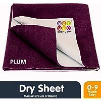 BeyBee Waterproof Baby Bed Protector Dry Sheet for New Born Babies (Medium (100cm X 70cm), Plum)