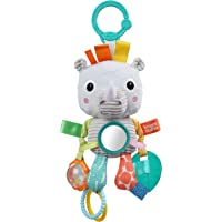 Bright Starts Playful Pals Activity Take-Along Toy, Rhino, Newborn +
