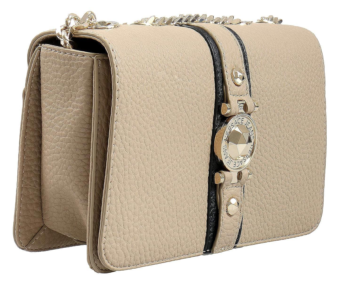 2932078820fe Amazon.com  Versace EE1VSBBF8 EMDU 723+899 Taupe Black Shoulder Bag for  Womens  Shoes