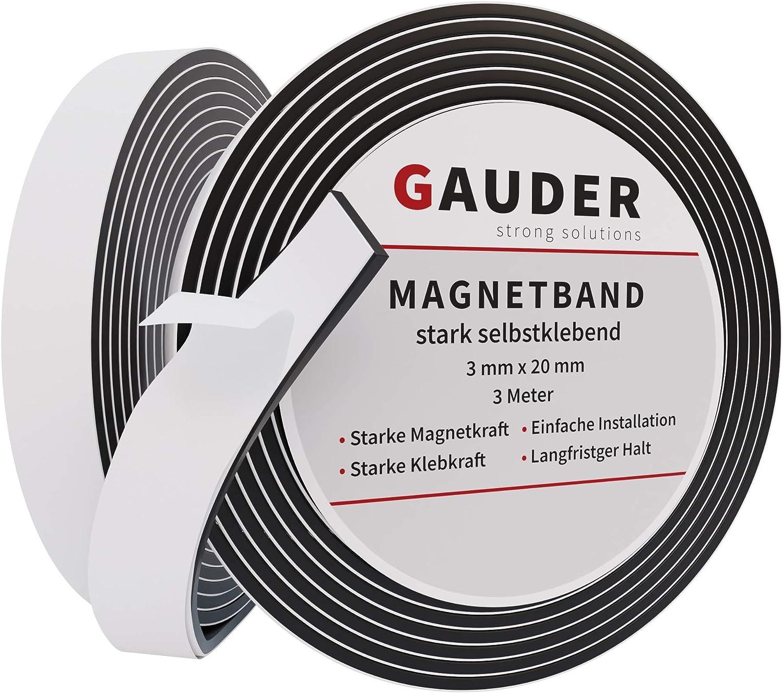 GAUDER Cinta Magnética Adhesiva Extra Fuerte | Banda Imantada Autoadhesiva | Tira de Imán: Amazon.es: Bricolaje y herramientas