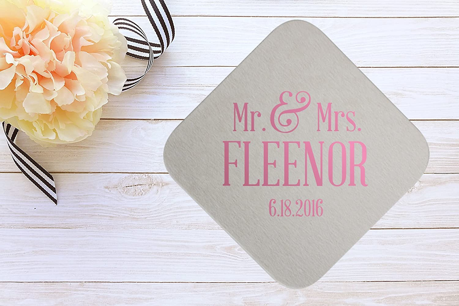 Amazon.com: Custom Drink Coasters with / Personalized wedding ...