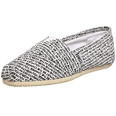 TOMS Womens Canvas Gandhi Slip-on,White Gandhi,7.5 M