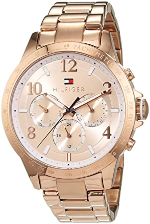 Tommy Hilfiger Womens 1781642 Dani Analog Display Japanese Quartz Rose Gold Watch