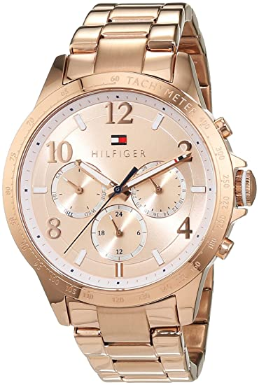 Amazon.com: Tommy Hilfiger Womens 1781642 Dani Analog Display Japanese Quartz Rose Gold Watch: Tommy Hilfiger: Watches