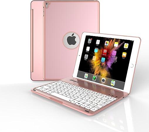 dansure teclado Funda para iPad Pro 9,7/iPad Air 2, LED 7 colores retroiluminada Teclado Bluetooth Funda (no para 2017 nueva iPad 9.7 inch & iPad ...