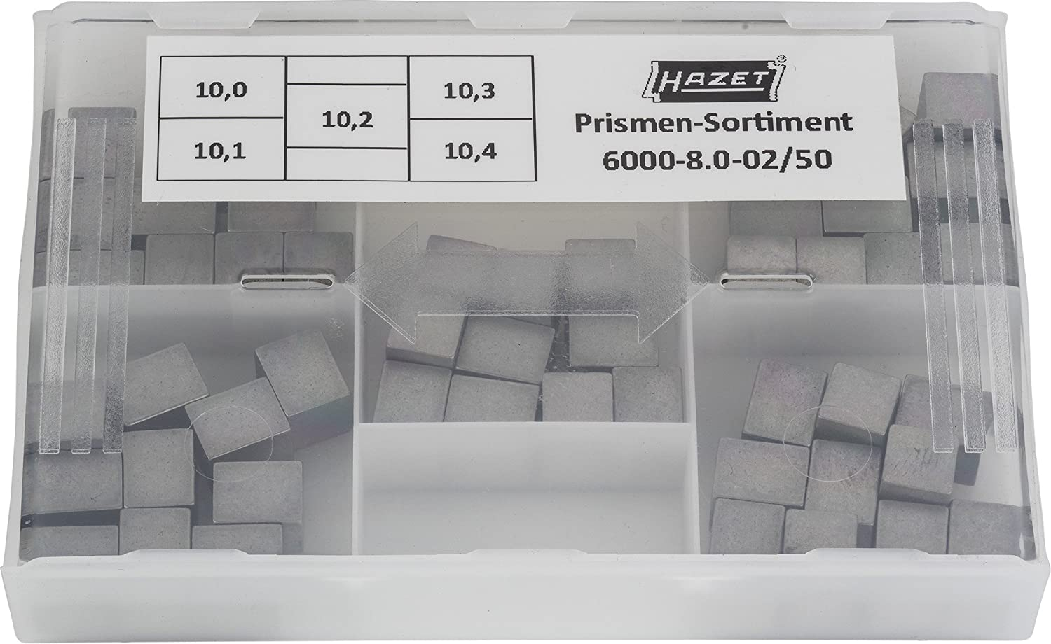 Hazet 6000-8.0-02//50 50 Piece 10.0-10.4X8.0mm Replacement Prism Set