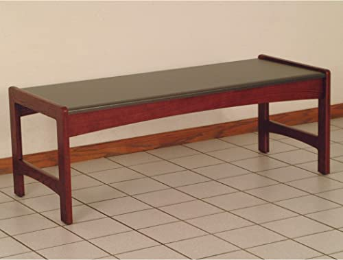 Wooden Mallet DT2-BG Coffee Table with Black Granite Look Top, Mahogany