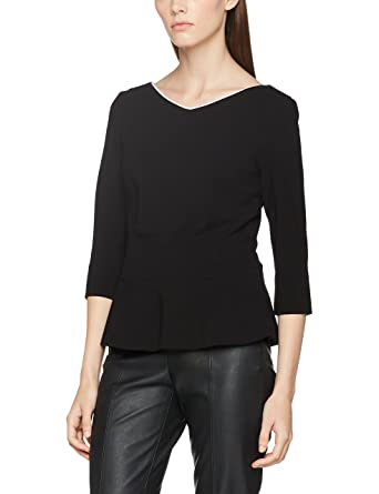 Marc Cain Additions Damen T-Shirt HA 48.02 J51, Schwarz (Black and White 9695b579dd