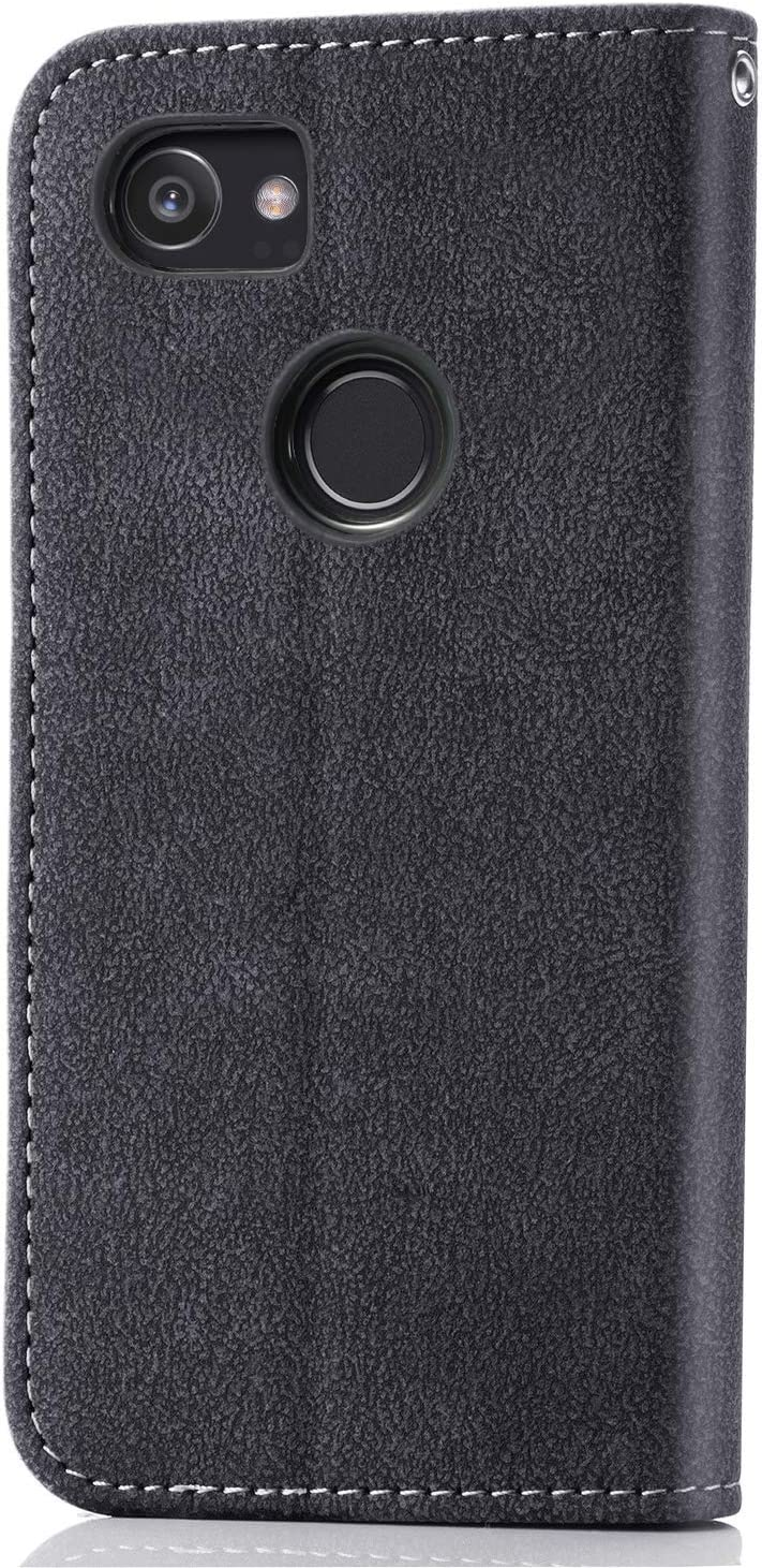 Asuwish Pixel 2XL Wallet Case,Luxury Leather Phone Cases with Credit Card Holder Slot Stand Kickstand Rugged Flip Folio Protective Cover for Google Pixel 2 XL XL2 Blue