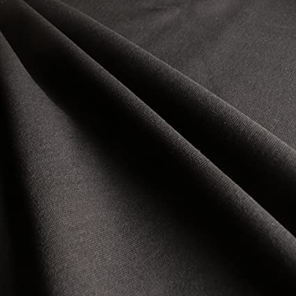 ff82ea91943 Plain Black Ponti Roma 4 way Stretch Heavy Jersey Fabric - sold by the  metre: Amazon.co.uk: Kitchen & Home