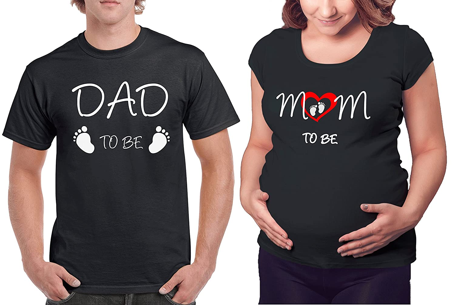 af59771dc Amazon.com: Matching Maternity Couple Shirts - Dad & Mom to be T Shirt -  Pregnancy Clothes: Clothing
