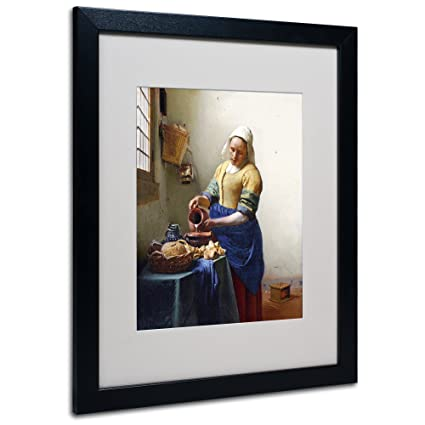 Amazon Trademark Fine Art The Milkmaid 1658 60 By Jan Vermeer