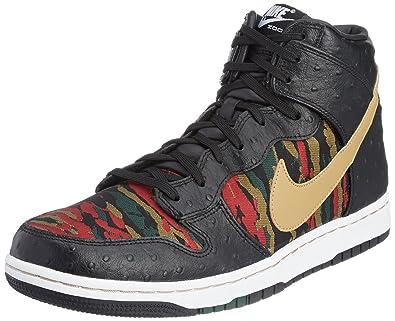 the best attitude f16d0 415a8 Nike Mens Dunk CMFT PRM QS Leather Basketball Shoes Black 9.5 Medium (D)