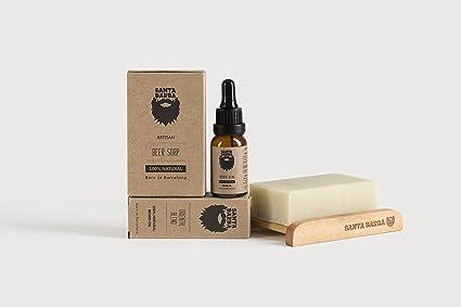 Kit PURE para barba Santa Barba - 1 Aceite + 1 Jabón de Cerveza + 1