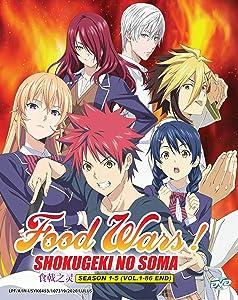 FOOD WARS! SHOKUGEKI NO SOMA (SEASON 1-5) - COMPLETE ANIME TV SERIES DVD BOX SET (1-86 EPISODES)
