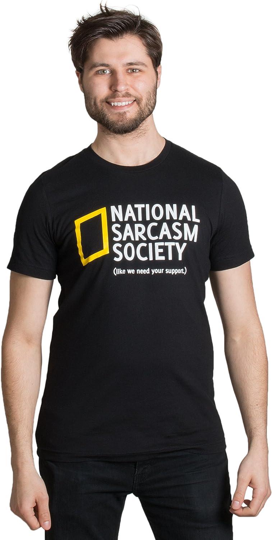National Sarcasm Society - Camiseta de manga corta, diseño con texto en inglés