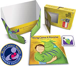 """""""Along Came A Monster – The Monster's Transport"""": Mom's Choice Award Winner- Bedtime Story to Help Kids with Anxiety and Fear of Monsters! Includes Magical Monster's Transport Box and Window Sticker"""
