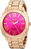 TKO ORLOGI Women's Big Pink Face Rose Gold Boyfriend Oversized Watch