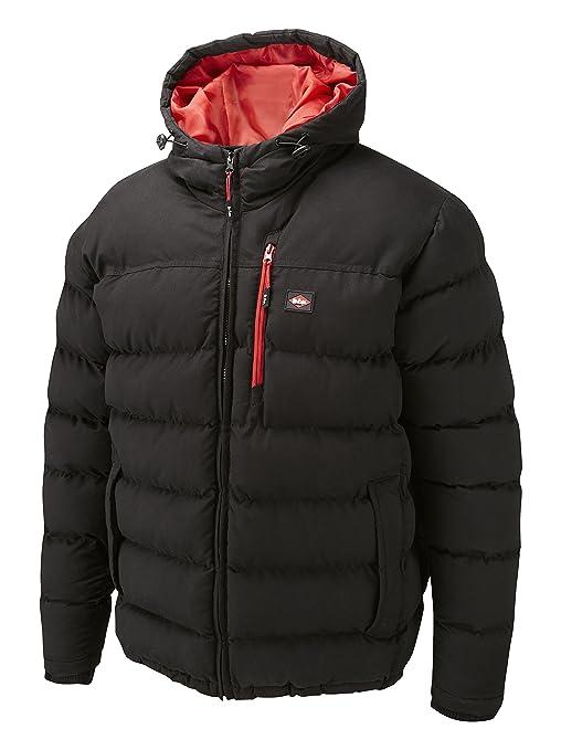 Lee Cooper Workwear Padded - Abrigo de plumas para hombre, color negro, talla M