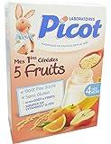 Picot-Mes Premières Céréales 5 Fruits - Dès 4 Mois - Picot 200g