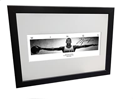 45c22b3ebde7 Image Unavailable. Image not available for. Color  Kicks Michael Jordan  WINGS Signed 12x8 A4 Chicago Bulls ...