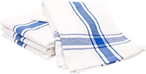 KAF Home Yarn Dyed Flour Sack Kitchen Towels | Set of 4, 18 x 28 Inch Dish Towels | Perfect for Baking, Crafting, and Everyday Use (Blue)