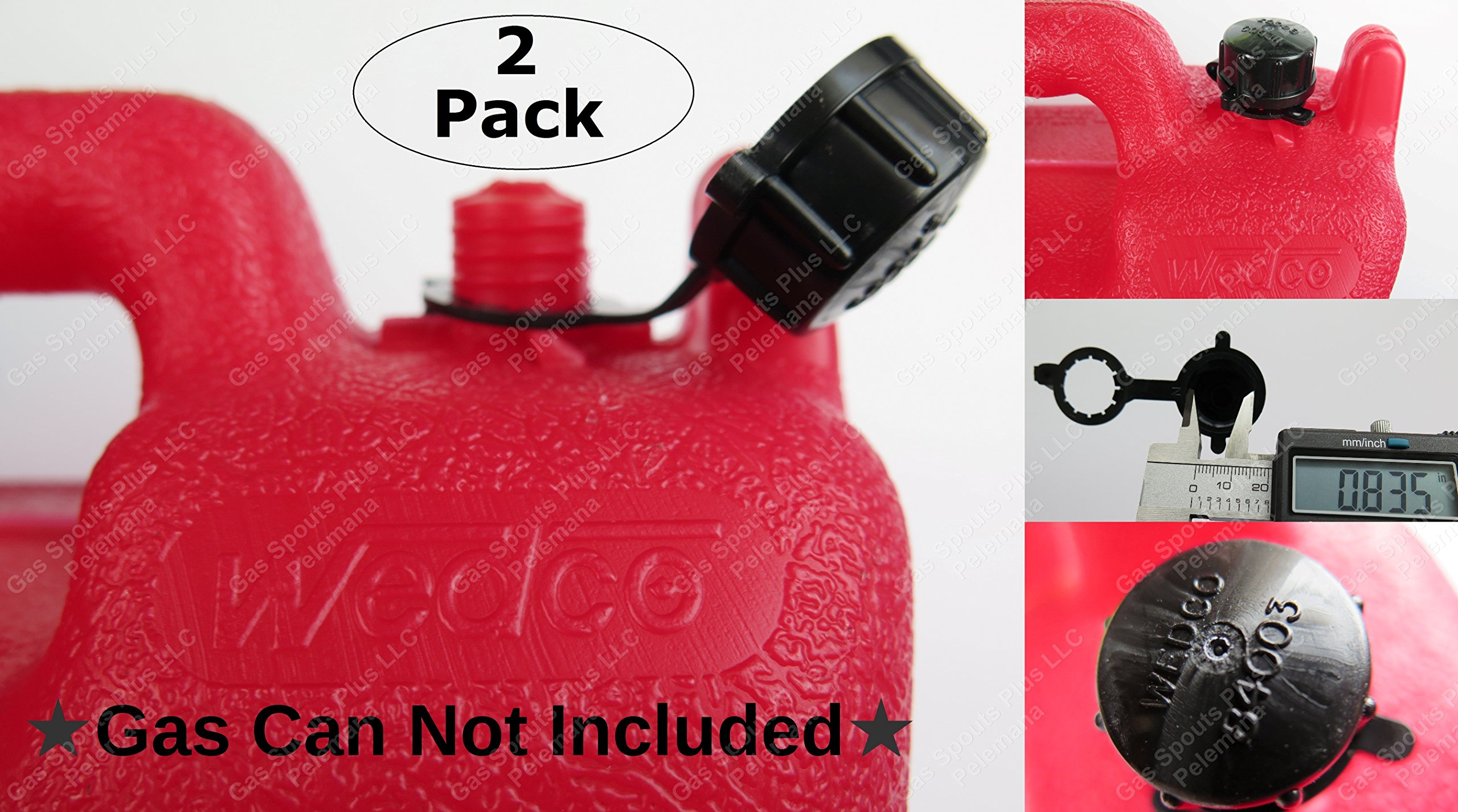 2-Pack New Wedco Authentic Genuine REAR VENT SCREW CAPS #84003 with tether to prevent loss Wedco Essence Briggs & Stratton GAS FUEL DIESEL KEROSENE CAN PART ORIGINAL REPLACEMENTS