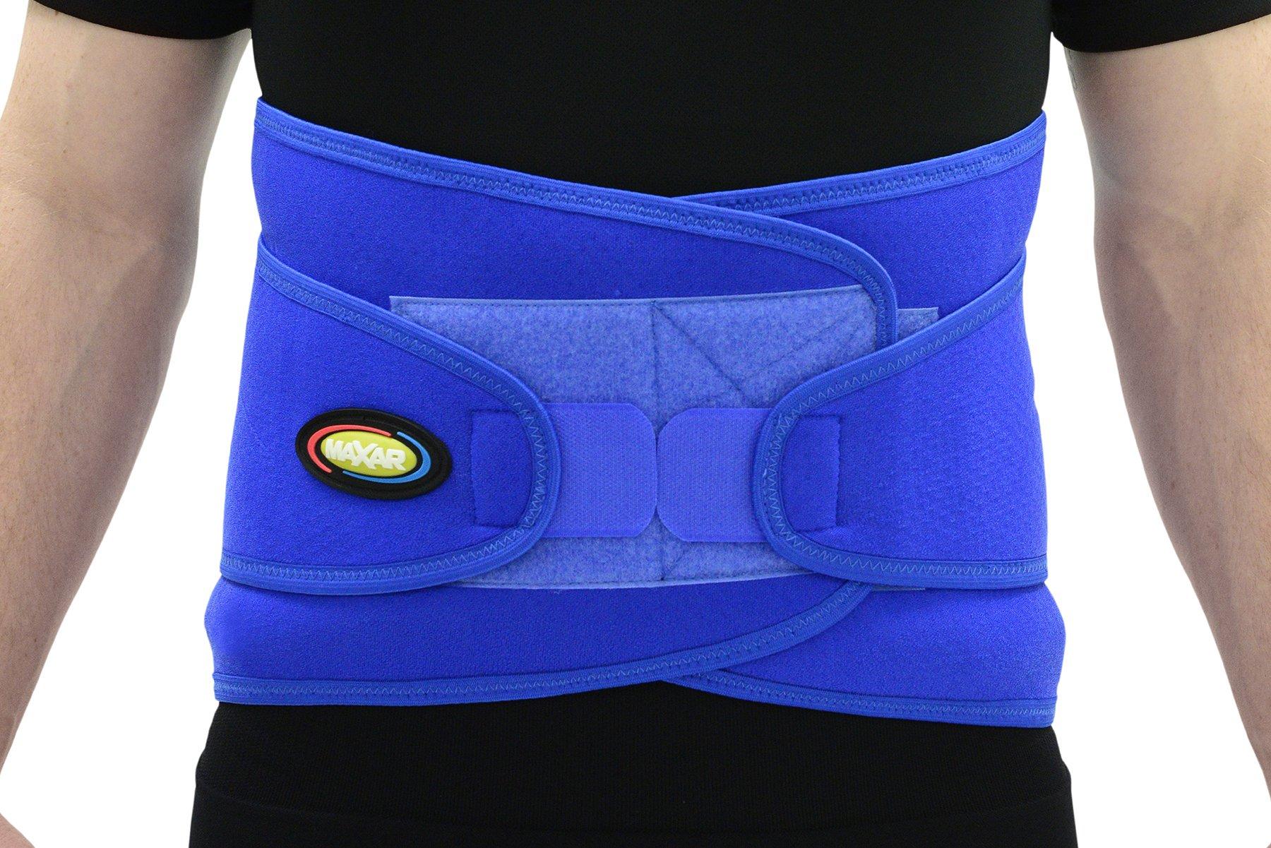 Maxar Airprene (Breathable Neoprene) Sport Belt (Lumbo-Sacral Support), Small, Blue