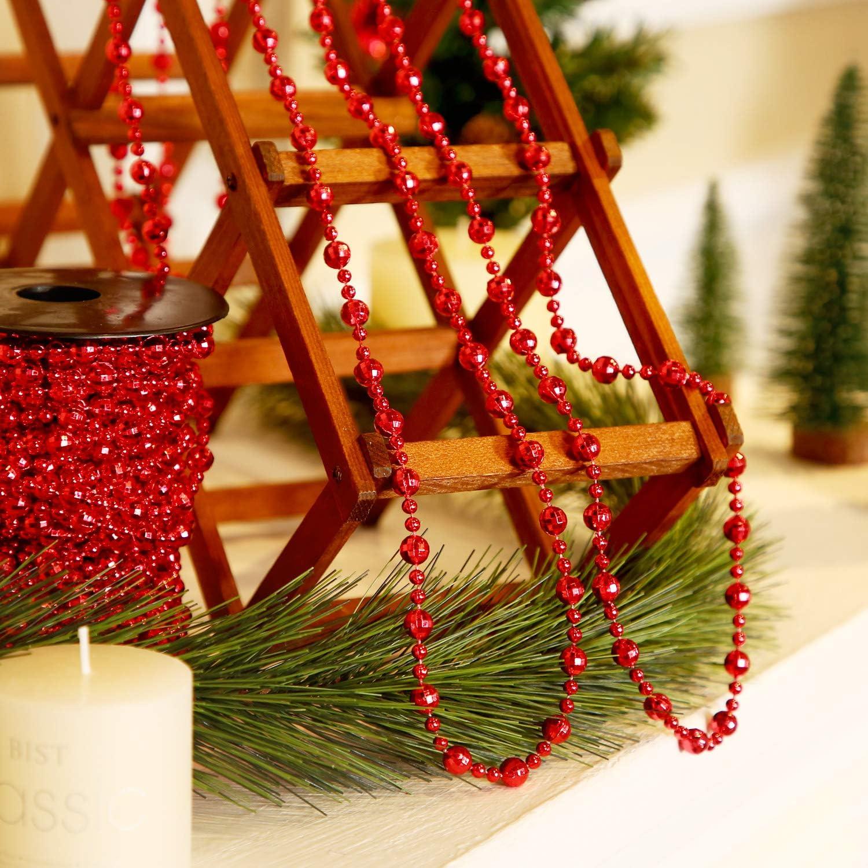 Pangda Cadena De Perlas De árbol De Navidad Para Decorar La Corona De Navidad O El Centro De Mesa Home Kitchen