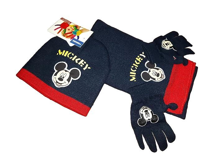 topolino Set Cappello Sciarpa e Guanti Bimbo Mickey Art. 102424 (Blu ... 160ca68074e7