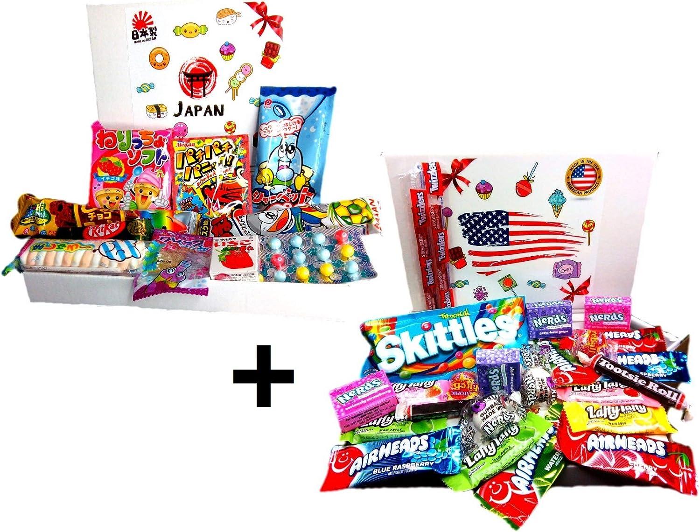 Box Candy American + Box Dulces japoneses importación Japan Snacks ...