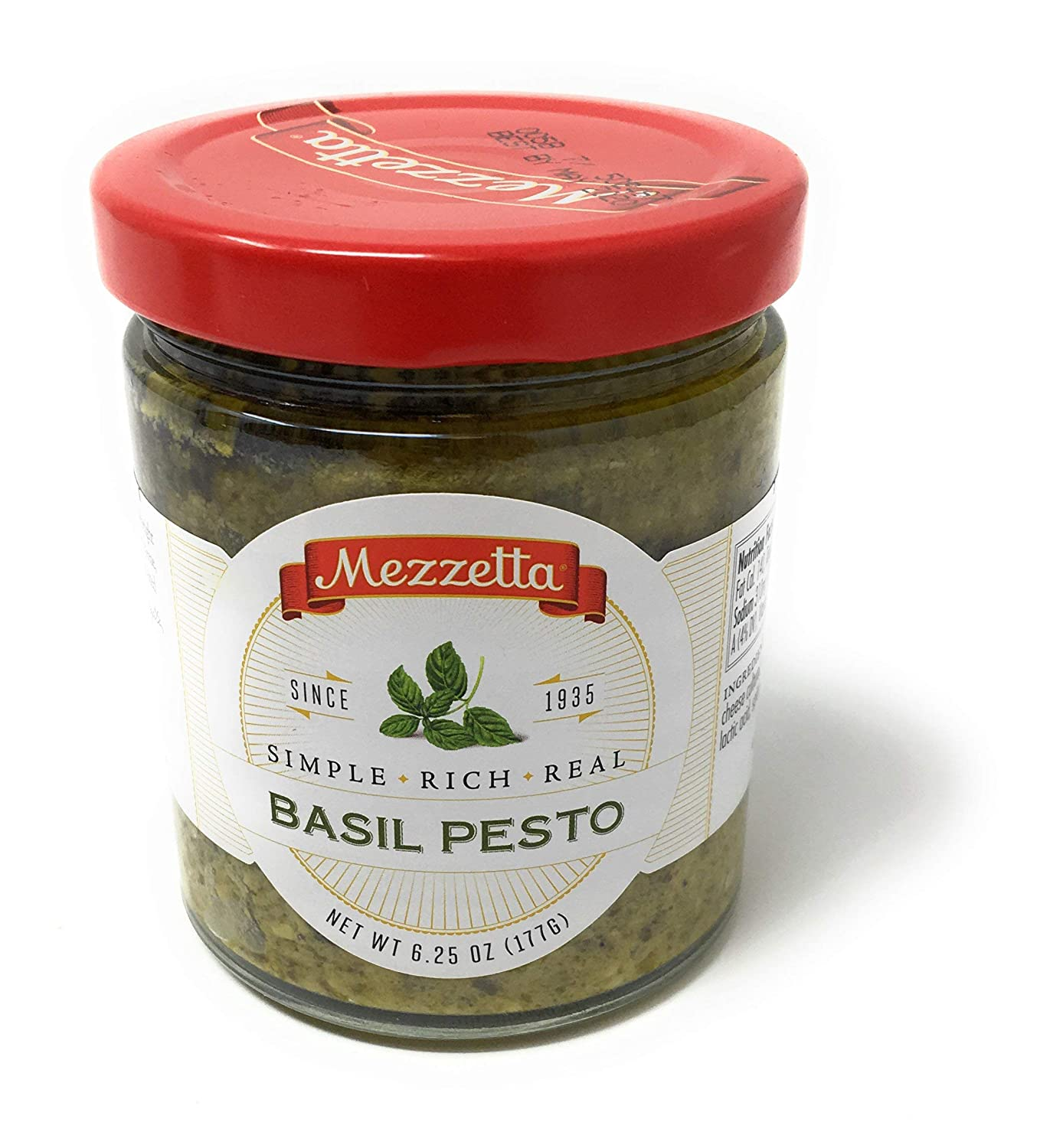 Amazon Com G L Mezzetta Sauce Basil Pesto 6 25 Ounce Pack Of 6 Italian Pesto Sauces Grocery Gourmet Food