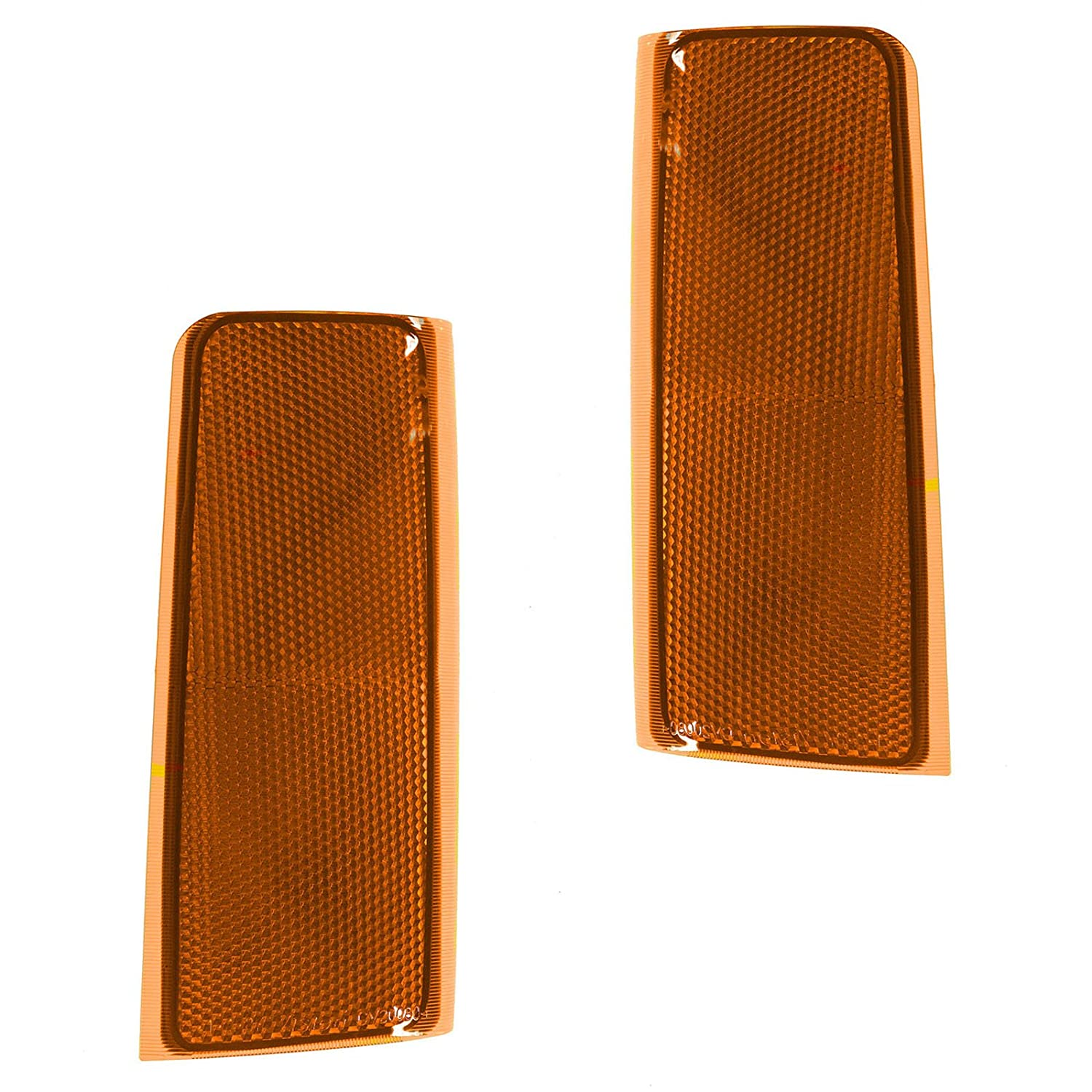 Side Marker Corner Reflector Left & Right Pair for Chevy GMC Pickup Truck & SUV 1A Auto