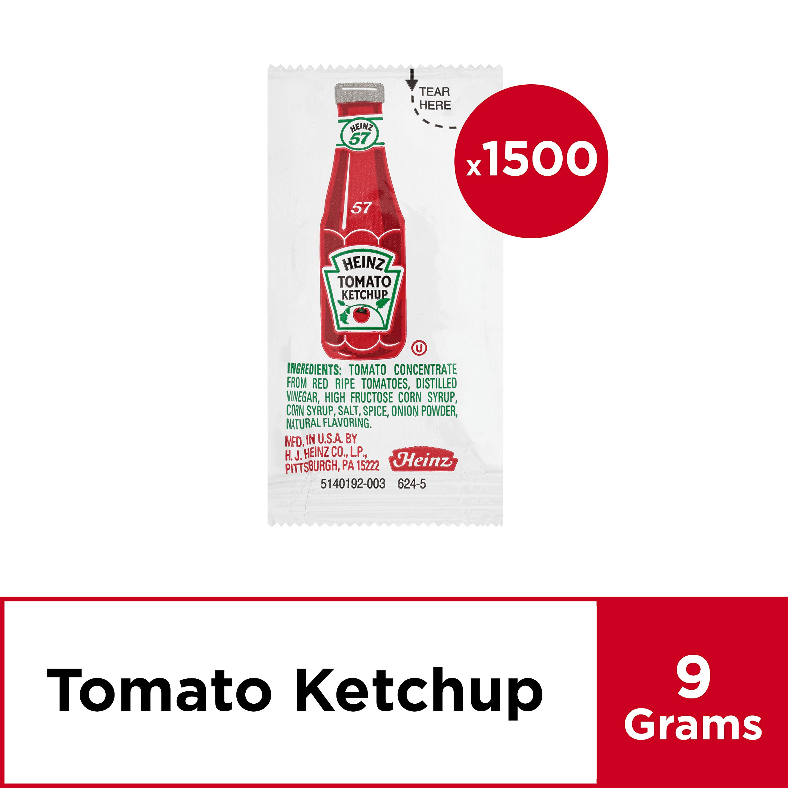 Heinz Ketchup Single Serve Packets (9 g Packets, Pack of 1500) by Heinz