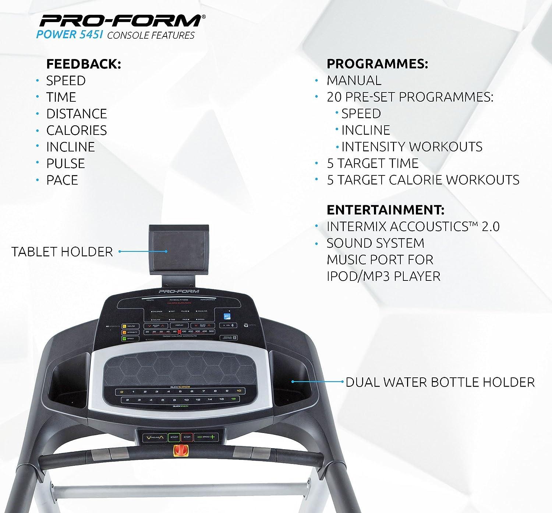 proform power 545i treadmill amazon co uk sports outdoors