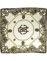 Dahlia Women's 100% Square Silk Scarf - Leopard Print and Chain
