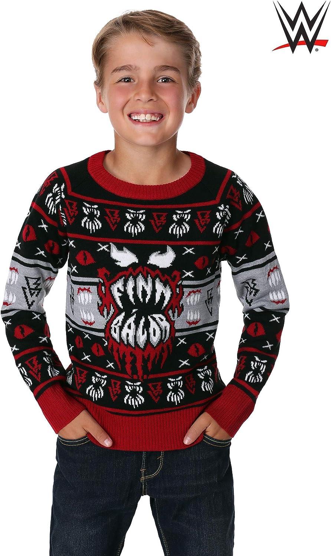 WWE Kids Finn B/álor Ugly Christmas Sweater X-Large