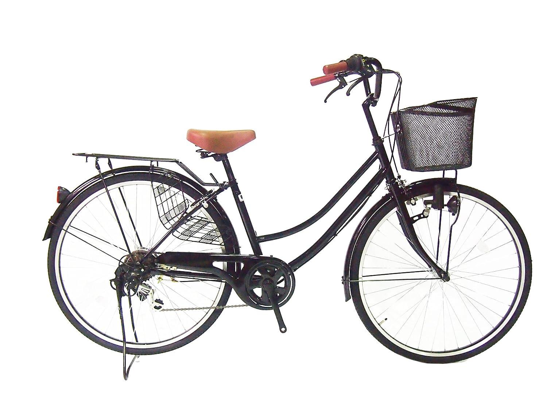 Lupinusルピナス 自転車 26インチ LP-266UD 軽快車 シマノ外装6段ギア ダイナモライト ブラックリム装備 100%完成車 B00AYRZOPAブラック
