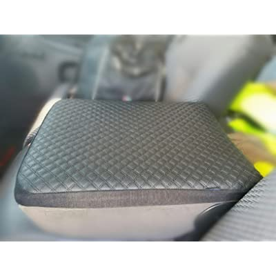 it's us Black Leather Center Console Lid Armrest Cover Protector for Dodge Ram 1500 2500 3500 Pickup Truck: Automotive
