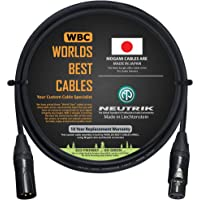 3 Foot – Quad Balanced Microphone Cable Custom Made by WORLDS BEST CABLES – Using Mogami 2534 Wire and Neutrik NC3MXX-B…