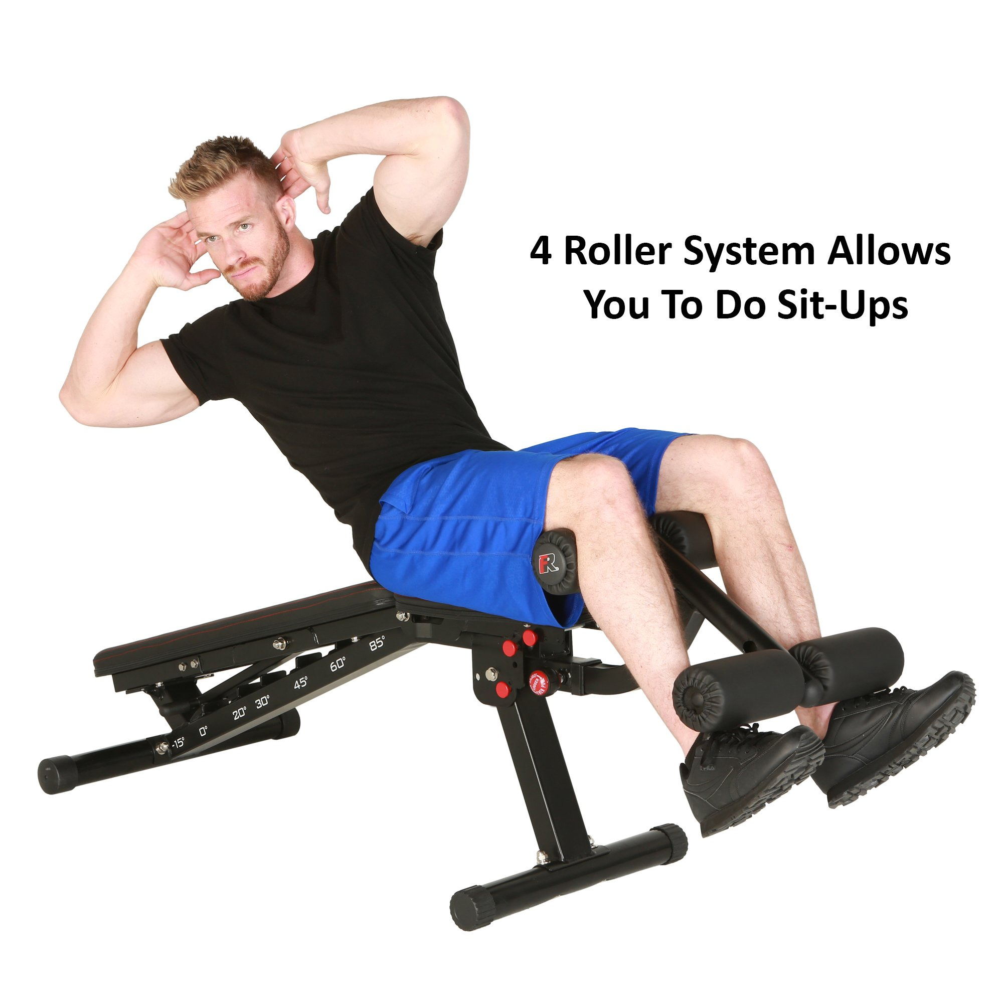 Fitness Reality 2000 Super Max XL High Capacity NO Gap Weight Bench with Detachable Leg Lock-Down by Fitness Reality (Image #4)