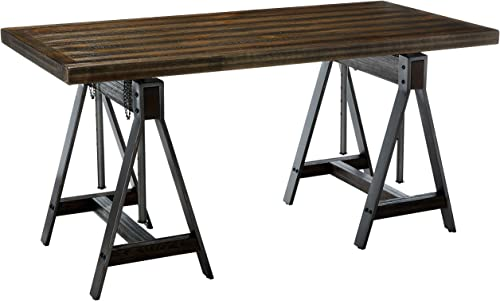 Editors' Choice: Coaster Home Furnishings Deponte Adjustable Writing Desk Burnished Cognac and Weathered Gunmetal