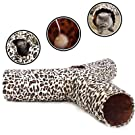 PAWZ Road Cat Tunnel 3 Way Foldable Crinkle Cat Tube with Dangling Ball Great for Cats,Kitties and Kitten Rabbit and Small Puppy
