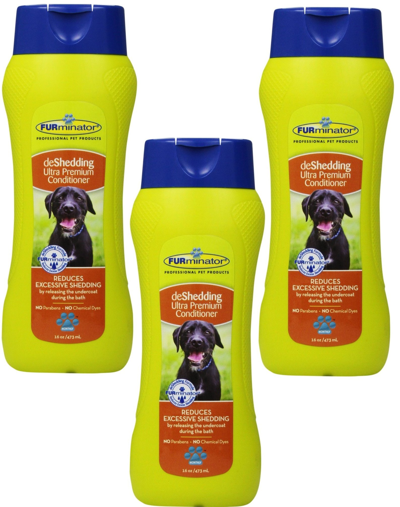 (3 Pack) FURminator deShedding Ultra Premium Conditioner, 16-Ounce Bottles
