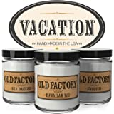 Scented Candles - Vacation - Set of 3: Sea Breeze, Hawaiian Lei, and Awapuhi - 3 x 4-Ounce Soy Candles - Perfect Valentines Day Gift for Her