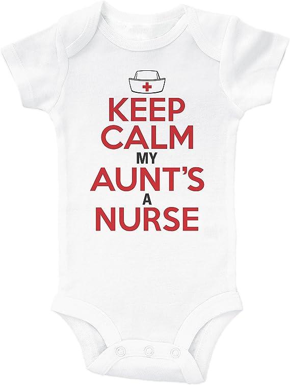 Amazon Com Baffle Keep Calm My Aunt S A Nurse Funny Onesie From