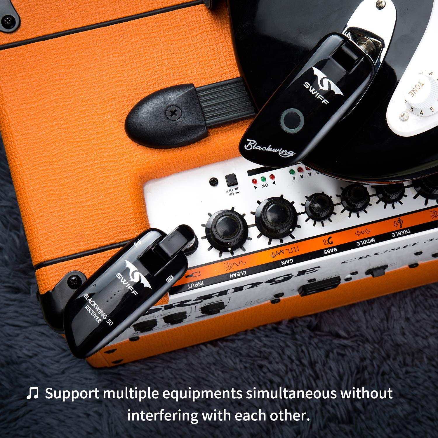 Microphones Live Equipment Gentle Free Shipping Wireless Electric Guitar Bass Piano Violin Keyboard Microphone Transmitter Receiver Audio Cable Line In Out System