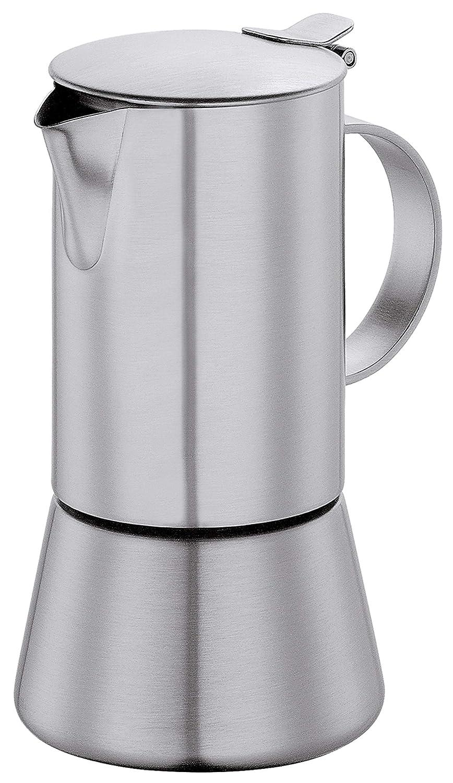 4 Tassen Induktion geeignet Cilio Espressokocher Aida Edelstahl matt