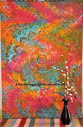 Mandala Indian Twin Tapestry Tie Die Wall Hanging Bohemian Wall Tapestries Cotton Bedspread Throw Table Cloth