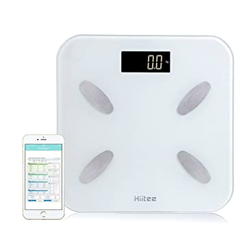 amazon com hiitee bluetooth 4 0 body fat monitor smart scale